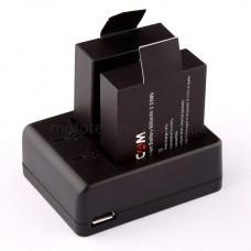 Зарядное устройство для двух аккумуляторов SJCAM SJ4000 / SJ5000